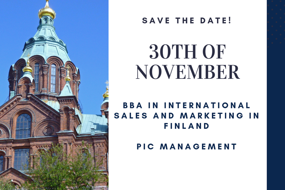 WEBINAR BBA in International Sales and Marketing in Finland