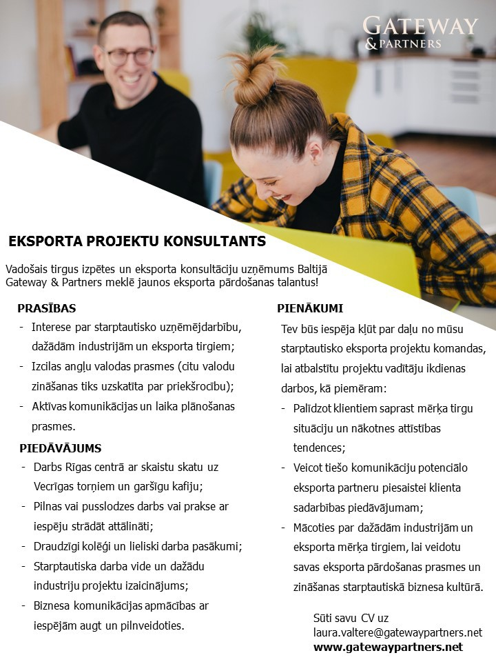 Eksporta projektu konsultants