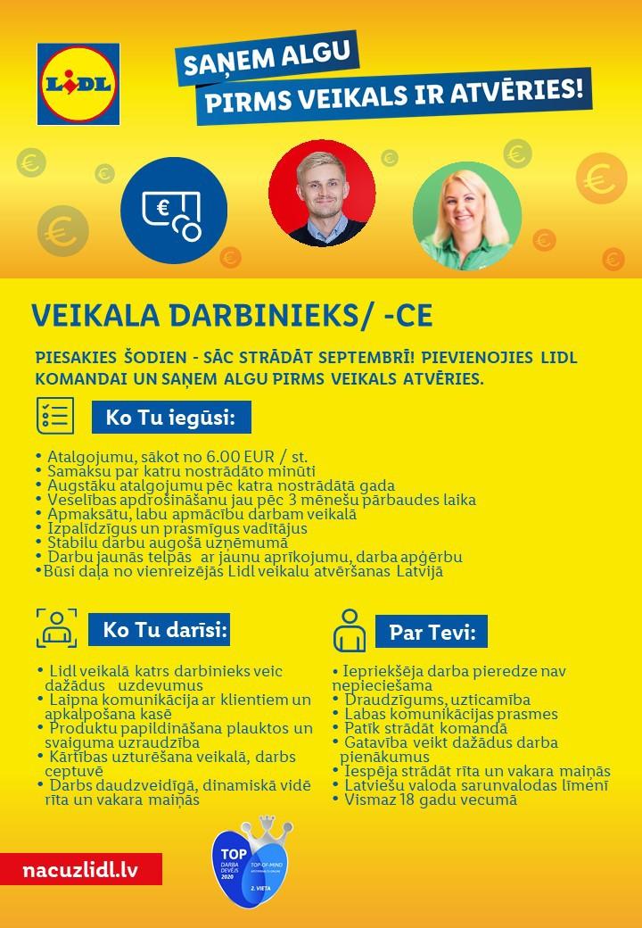 Veikala Darbinieks/-ce Rīgā (Teikā)