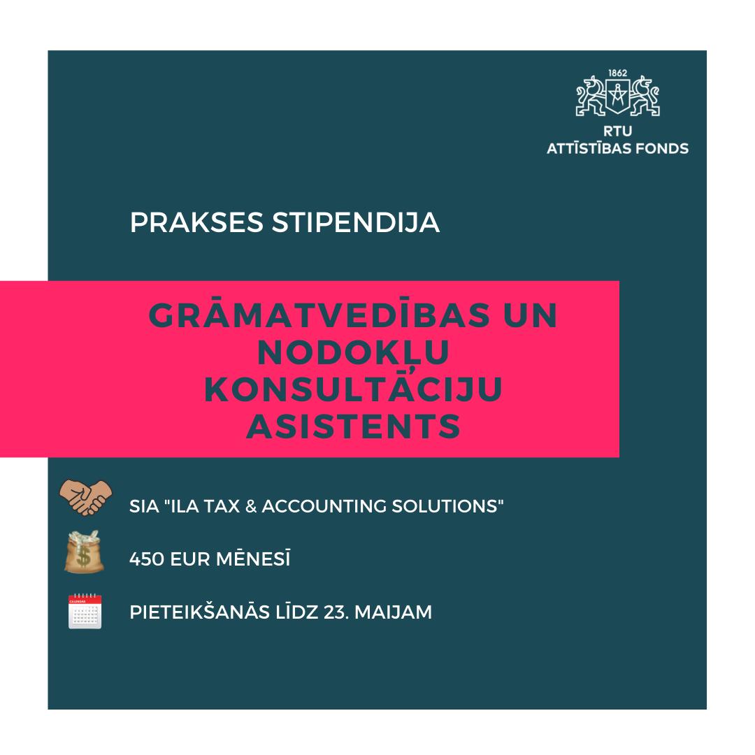 GRĀMATVEDĪBAS UN NODOKĻU KONSULTĀCIJU ASISTENTS