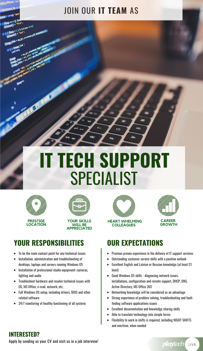 IT TECHNICAL SUPPORT SPECIALIST