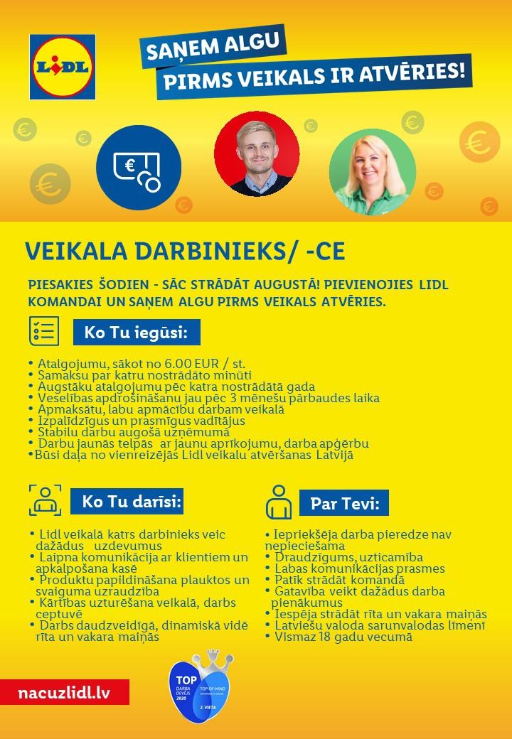 Veikala Darbinieks/ -ce Rīgā (Imantā)